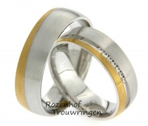 Tweekleurige ringen met een maatje meer