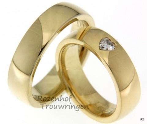 Romantische, geelgouden trouwringen