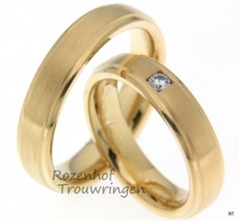 Harmonieuze, geelgouden trouwringen