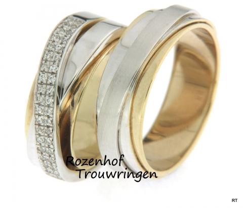 Gecompliceerde trouwringen met schitterende diamanten