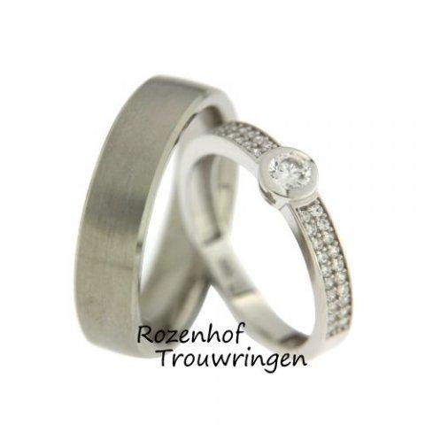 Verfijnde trouwringen indrukwekkend bezaaid met diamanten