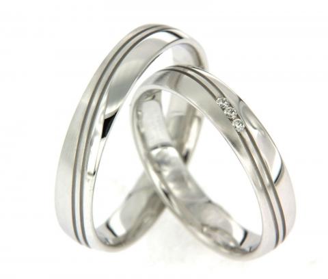 Mooie trouwringen met diamanten