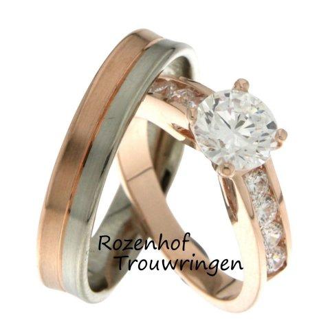 Imposante trouwringen in meer kleuren met imponerendediamanten