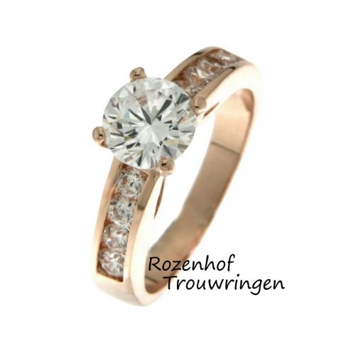 Majestueuze verlovingsring met imponerende diamanten