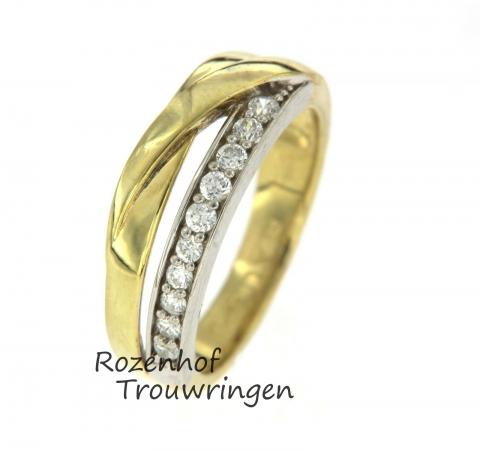 Prachtige damesring met sprankelende diamanten