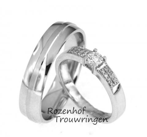 Exclusieve trouwringen met reusachtige diamant