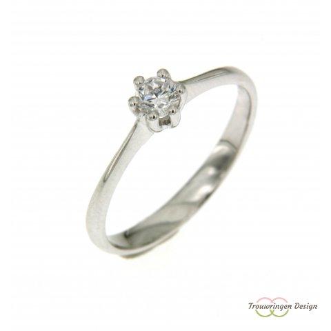 Verlovingsring met uitstekende diamant