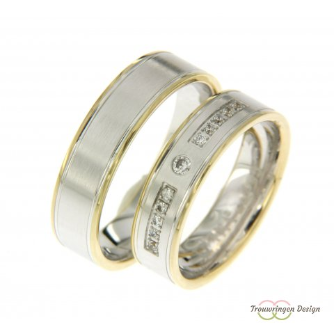 Strakke bicolor ringen