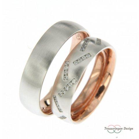 Moderne ringen met diamanten