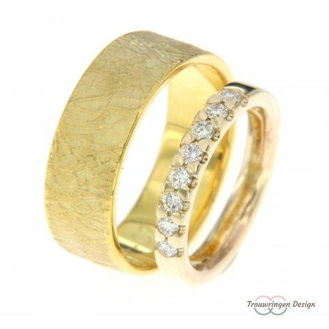 Trendy relatieringen met diamanten