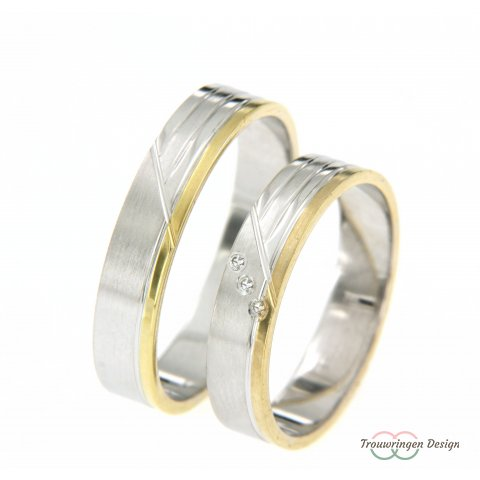 Speelse set ringen met diamanten