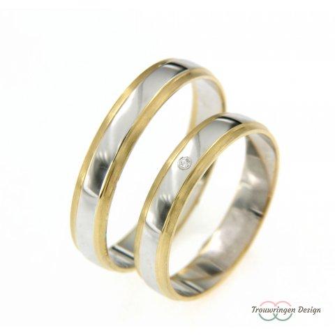Stijlvolle trouwringen in twee kleuren