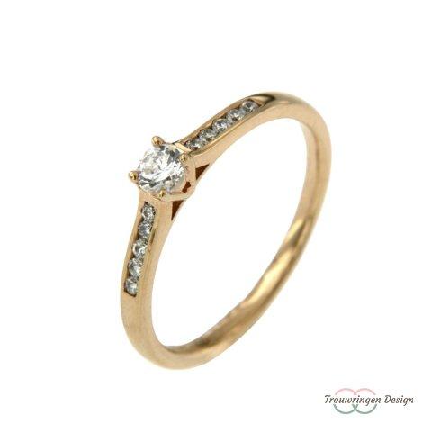 Aanschuifring met diamanten