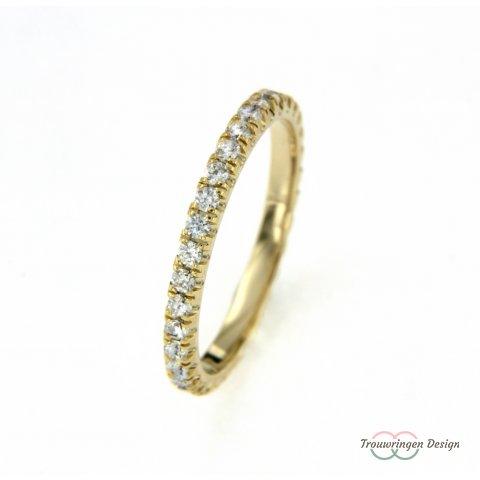 Luxe aanschuifring met diamanten