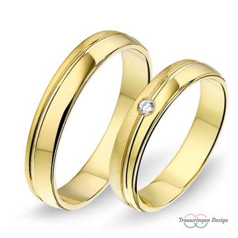 Geelgouden trouwringen