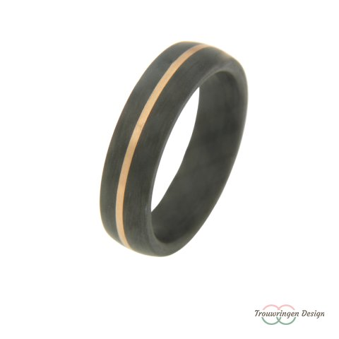 Stoere carbon herenring