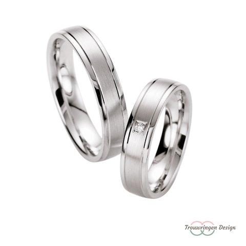 Prachtige zilveren trouwringen