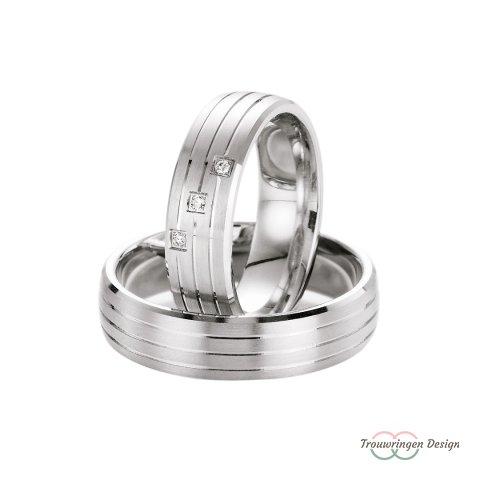 Strakke zilveren trouwringen