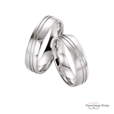 Trendy zilveren trouwringen