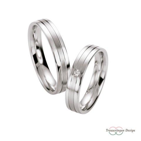 Smalle zilveren trouwringen
