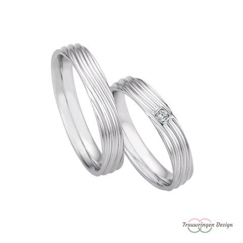 Speelse zilveren trouwringen