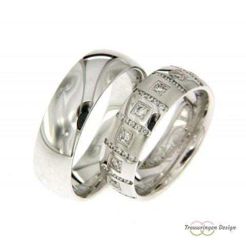 Exclusieve trouwringen met diamanten