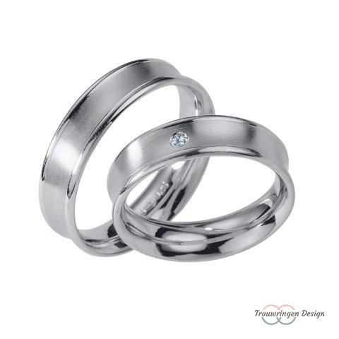 Elegante zilveren trouwringen