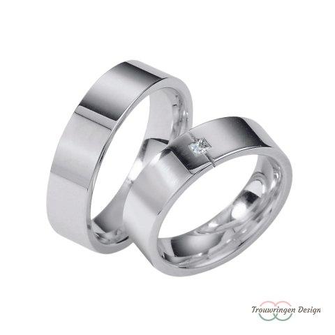 Schitterende zilveren trouwringen