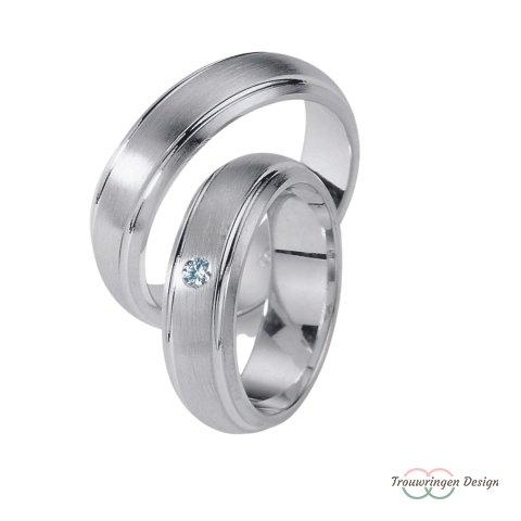 Stijlvolle zilveren trouwringen