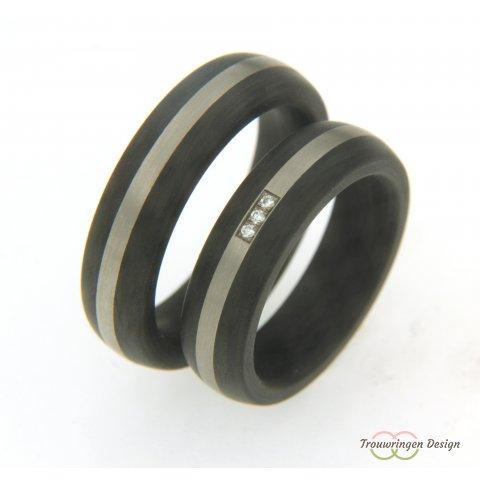 Carbon ringen met strak ontwerp
